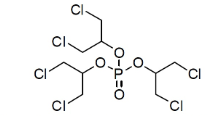 """Molecular structure of a common OPE called TDCPP, or """"chlorinated Tris"""". (source: toxipedia.org)"""