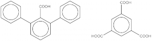 Examples of benzene polycarboxylic acid molecules. Source: Mark Foreman's Blog.