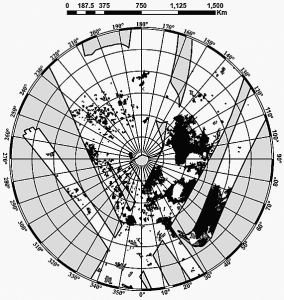 Figure 2. Diagram of satellite coverage with mapping coordinates used to create figure 1 (Lorenz 2008).