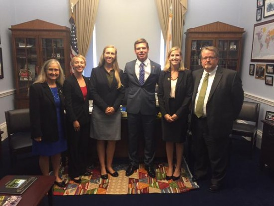 GeoCVD 2015 participants meeting with U.S. Rep. Swalwell. Credit: Office of Rep. Swalwell.