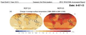 Fig. 2: The oceans are going to be a lot warmer over the next century! (Photo: IPCC)