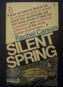 Figure 1: In 1962, Rachel Carson published Silent Spring, which bought organic pollution to the public eye. This book made eagle egg shell thinning a national concern that helped lead to the ban of DDT in 1972.