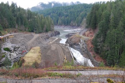 Figure 3 – The site where the Elwha dam once stood. Photo taken on February 14, 2012 (Photo by Ben Cody, https://commons.wikimedia.org/w/index.php?curid=16563772)