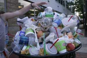 Image 3: Up to a third of plastics produced are made for single use items.