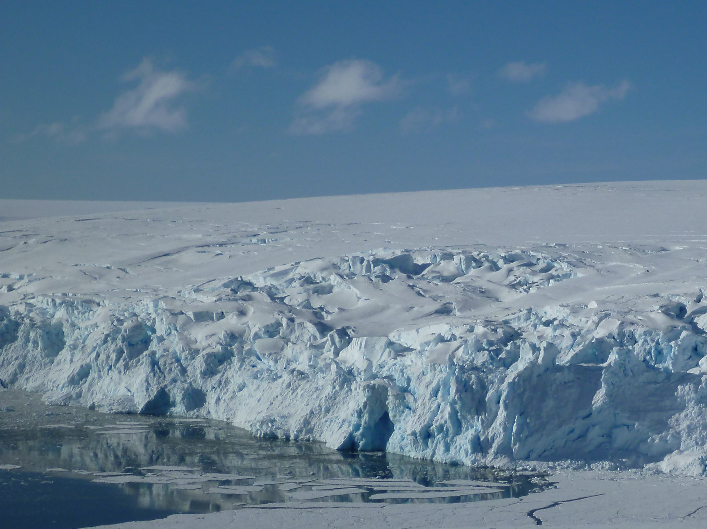 Figure 1. Glacier and sea ice on the West Antarctic Peninsula