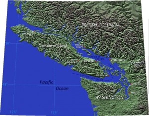 Figure 3: Johnstone strait (no labeled) is in the northern passage above Vancouver island https://upload.wikimedia.org/wikipedia/commons/5/5f/Vancouver-island-relief.jpg