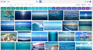 """Screen shot of a Google Image Search for """"ocean"""" on Sunday, November 20. 2016"""