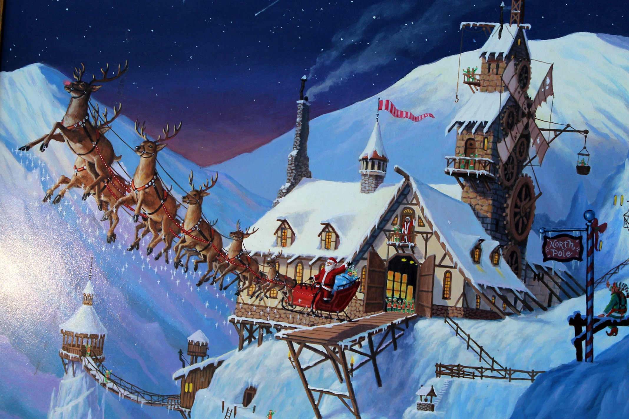 Polarized: What makes the North Pole the ideal location for Santa and his crew?
