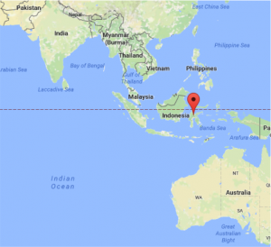 Figure 1 – Overall location of sampling sites in Sulawesi, Indonesia