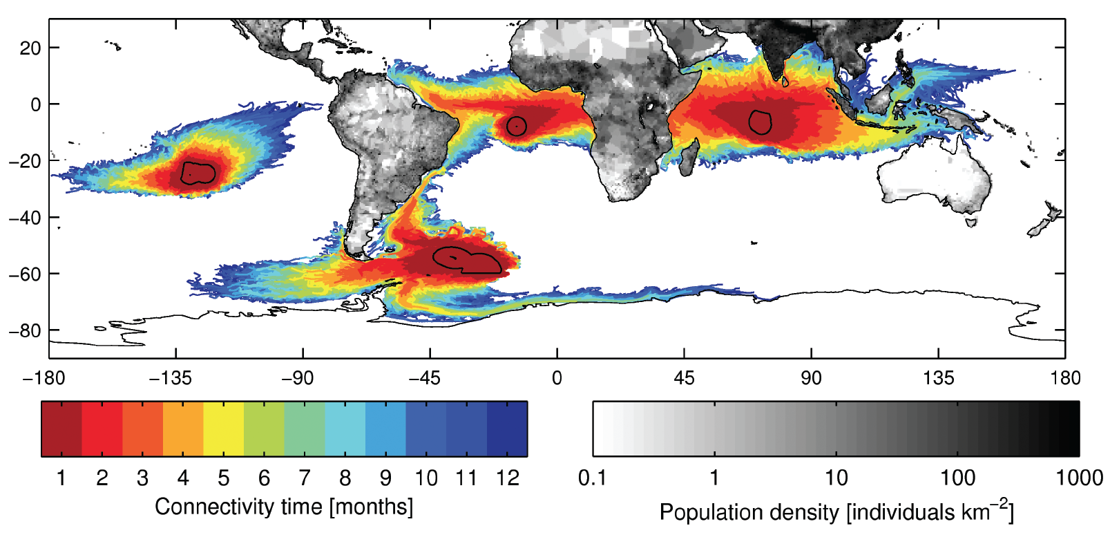 Current connections: how far away coastlines influence marine reserves