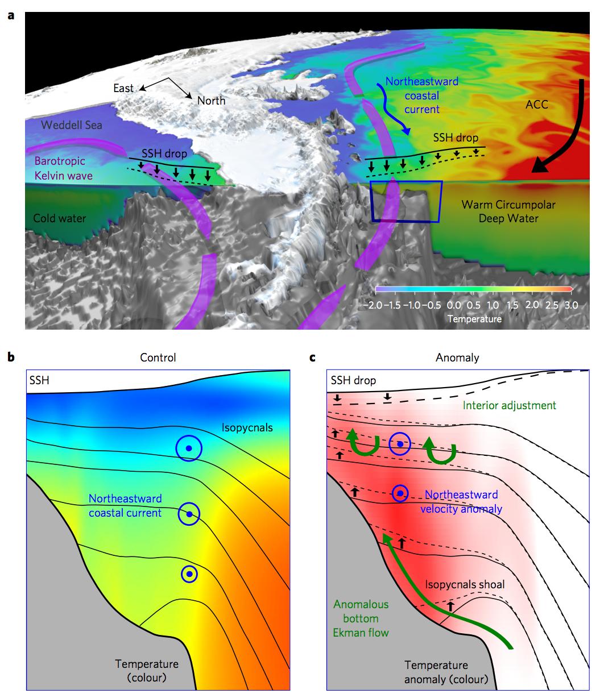 Coastal waves link far-off winds to melting Antarctic ice