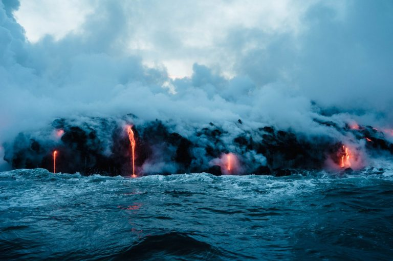 Phytoplankton Bloom Driven by Volcanic Eruption