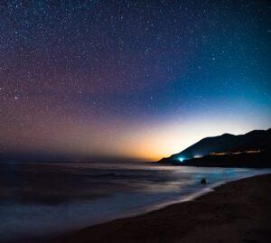 Ocean and night sky