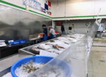 Seafood market with distancing
