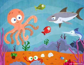 Why did the octopus punch the fish?